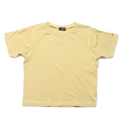 コムサイズム COMME CA ISM DICカラー半袖Tシャツ (イエロー)