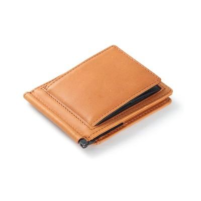 【カバンのセレクション】 アンクール マネークリップ メンズ ブランド カード 小銭入れ付き 本革 財布 Un coeur MSC 223107 ユニセックス キャメル フリー Bag&Luggage SELECTION