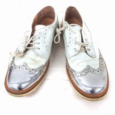 【中古】ピシェ アバハウス Piche abahouse 靴 シューズ ローファー ウイングチップ レースアップ 38 ホワイト 白 /FT