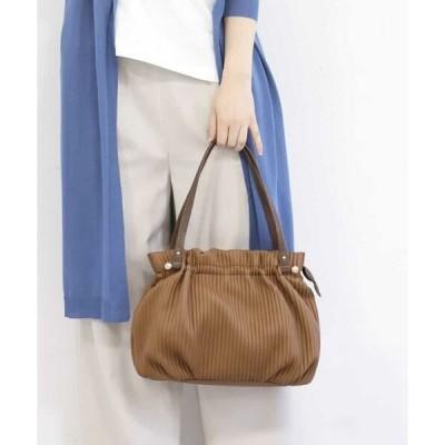 MK MICHEL KLEIN BAG / エムケーミッシェルクランバッグ 【2WAY】ギャザーデザインエコレザーバッグ