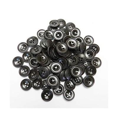 こげ茶色系 ナット調 ボタン 14mm 4穴 ジャケット 袖口 カーディガン 最適 100個入り L5004-14-DBR-679