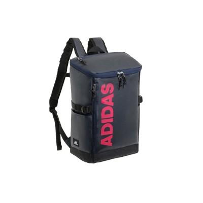 【カバンのセレクション】 アディダス リュック リュックサック 25L スクエア ボックス型 防水 通学 メンズ レディース adidas 62791 ユニセックス ネイビー フリー Bag&Luggage SELECTION