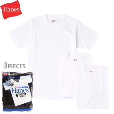 Hanes ヘインズ アオラベル Uネック Tシャツ 3枚組 HM2115G
