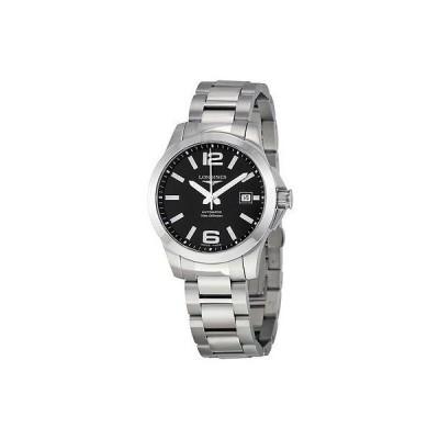 ロンジン 腕時計 Longines Conquest オートマチック ブラック ダイヤル メンズ 腕時計 L36764586