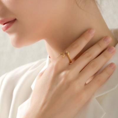 (高品質)蛇dfankエジプトのファラオの指輪个性の女性ファッションアクセサリー人差し指指輪小众デザインins網レッド学生