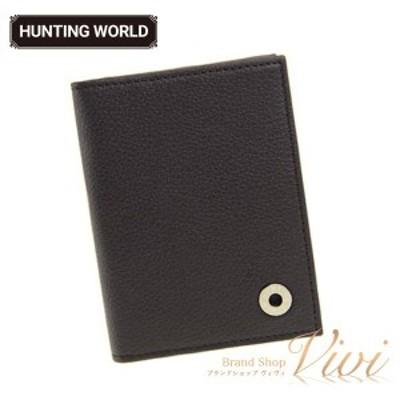 HUNTING WORLD ハンティングワールド 名刺入れ メンズ   212-371 KASHGAR/BLK ラッピング無料 UE1044