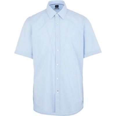 ヒューゴ ボス BOSS HUGO BOSS メンズ シャツ トップス Solid Color Shirt Sky blue