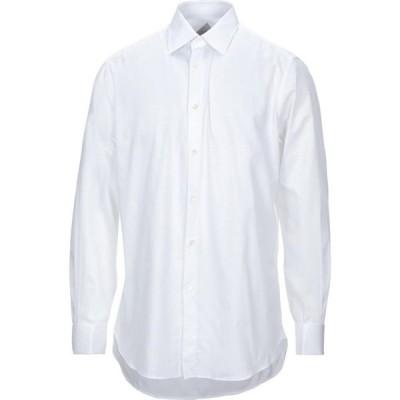 パルジレリ PAL ZILERI メンズ シャツ トップス Solid Color Shirt White
