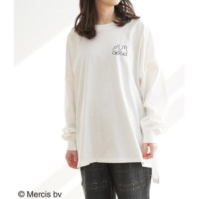 ロペピクニック/【WEB限定】【miffy×ROPE' PICNIC】ロングTシャツ/ホワイト系/38