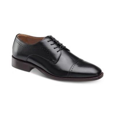 ジョンストンアンドマーフィー メンズ ドレスシューズ シューズ Men's Sanborn Cap-Toe Lace-Up Oxfords Black