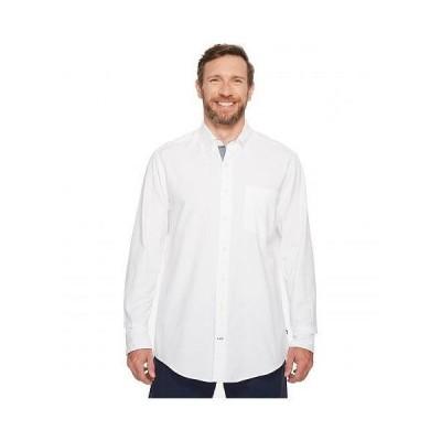 Nautica Big & Tall ナウティカ メンズ 男性用 ファッション ボタンシャツ Big & Tall The Hitch Long Sleeve Oxford Woven Shirt - Bright White
