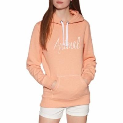 アニマル Animal レディース パーカー トップス sketched pullover hoody Canyon Sunset Orange Marl