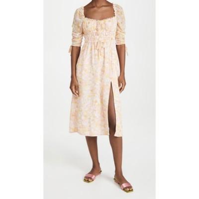フォーラブアンドレモン For Love & Lemons レディース ワンピース ミドル丈 ワンピース・ドレス Eden Midi Dress Pink