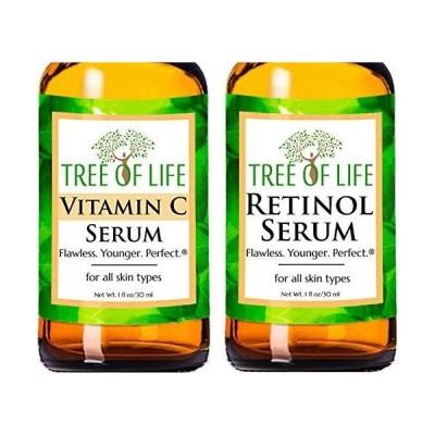レチノール & ビタミンC セラム 美容液 2本セット ナチュラル オーガニック 保湿 天然 30ml*2