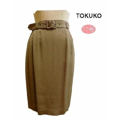 トクコプルミエヴォル TOKUKO タイトスカート ブラウン 11号 春夏 レディースファッション