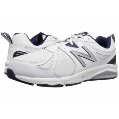 New Balance ニューバランス メンズ 男性用 シューズ 靴 スニーカー 運動靴 MX857v2 White/Navy【送料無料】