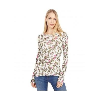 Lucky Brand ラッキーブランド レディース 女性用 ファッション アクティブシャツ Pointelle Scoop Neck Top - Pink Multi