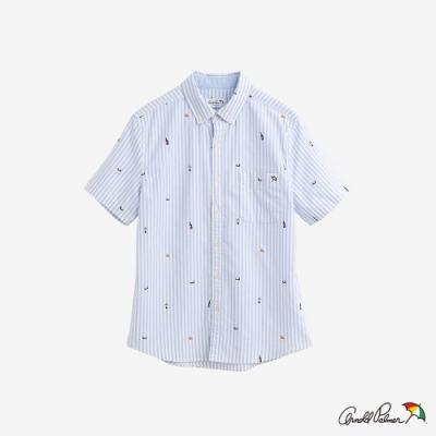 Arnold Palmer-男裝-滿版主題印花牛津襯衫-藍