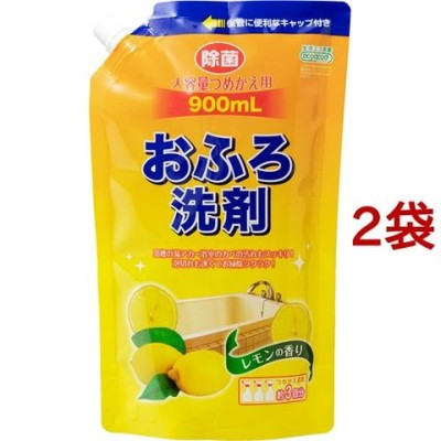 アドグッド エコグッド おふろ洗剤 大容量つめかえ用 レモンの香り (900ml*2コセット)