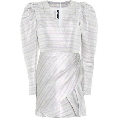ローテート ROTATE BIRGER CHRISTENSEN レディース ワンピース ワンピース・ドレス Metallic striped puff-sleeve minidress Purple Comb