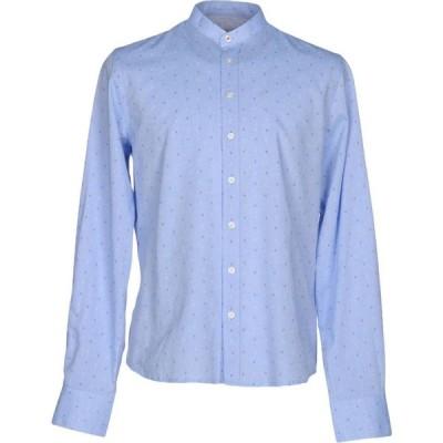 イエスズィー バイ エッセンツァ YES ZEE by ESSENZA メンズ シャツ トップス patterned shirt Sky blue
