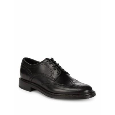 ブリオーニ メンズ シューズ オックスフォード 革靴 Derby Brouge Leather Dress Shoes