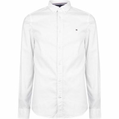 トミー ヒルフィガー Tommy Hilfiger メンズ シャツ ワイシャツ トップス Slim Fit Oxford Shirt White