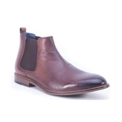 イングリッシュランドリー ブーツ&レインブーツ シューズ メンズ Men's Double Gore Slip On Boot Cognac