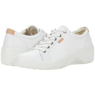 エコー Soft 7 Wedge Classic Sneaker レディース スニーカー White Cow Leather