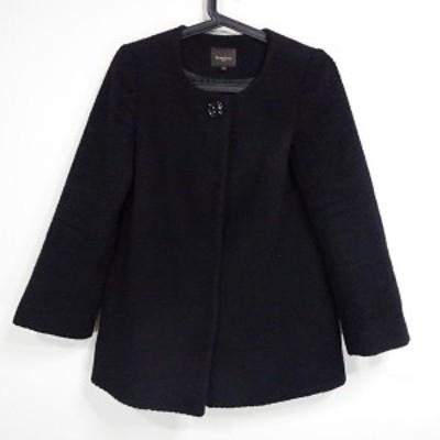 ビームス BEAMS コート サイズ36 S レディース 美品 - 黒 長袖/Demi-Luxe/冬【中古】20210227