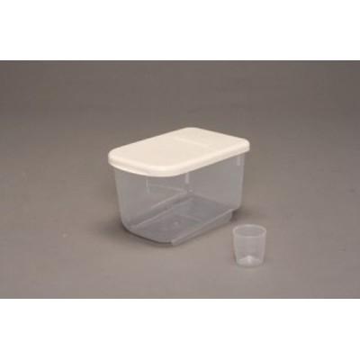 【キッチン雑貨 米】米びつ RPS-5 -- ホワイト PRS-5