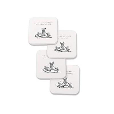 JOYLAND 珪藻土コースター 吸水 茶パッド 断熱 速乾 滑り止め 石鹸おき 4個セット 贈り物(スクエア)