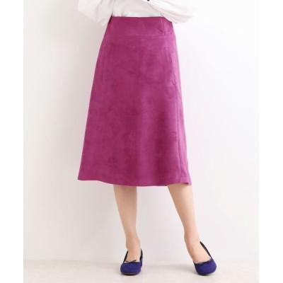 NIMES/ニーム フェイクスエード台形スカート パープル 0