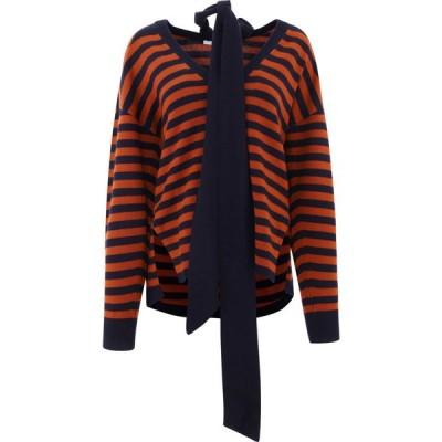 クロエ Chloe レディース ニット・セーター トップス Striped Cashmere Pullover Blue