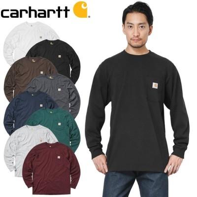 Carhartt カーハート CRHTT-K126 L/S WORKWEAR ポケットTシャツ メンズ 長袖 カットソー ロンT 無地 大きめ ゆったり アメカジ ワーク ブランド 人気【T】