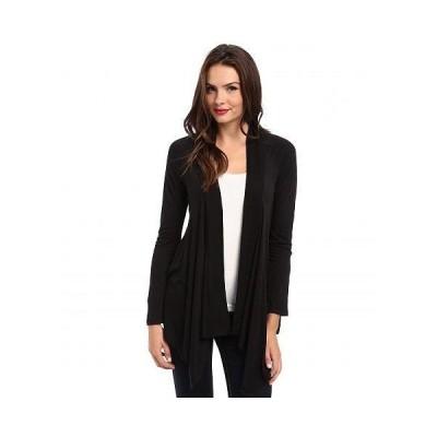 Splendid スプレンデッド レディース 女性用 ファッション セーター Exclusive Very Light Jersey Drape Cardigan - Black