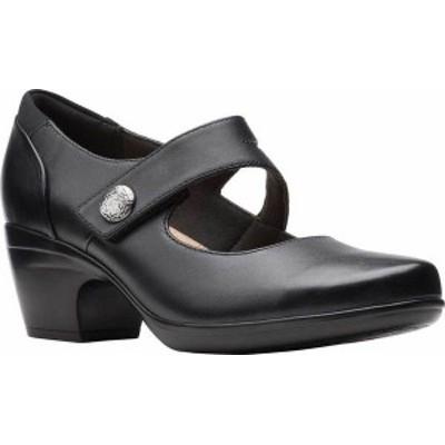 クラークス レディース ヒール シューズ Women's Clarks Emily Reaya Mary Jane Black Leather