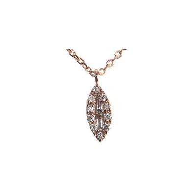 ダイヤモンドペンダント ネックレス ピンクゴールド K18 ダイヤモンド 0.09ct