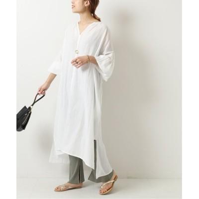 【スピック&スパン】 Cotton Stripe JQ CB オープンドレス◆ レディース ホワイト フリー Spick & Span