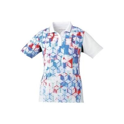 ゴーセン(GOSEN) ソフトテニス バドミントン レディース ゲームシャツ T1801 ホワイト(30) XLサイズ