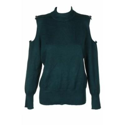ファッション トップス Thalia Sodi Dark Forest Zip Shoulder Mock Jumper XL