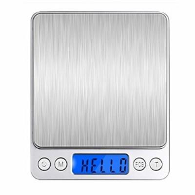 Angeno デジタルスケール 電子天秤 0.01g~500gまで精密な計量器 風袋引き機能付き 料理用電子はかり お菓子作り用 (シルバー) B075JD9HF
