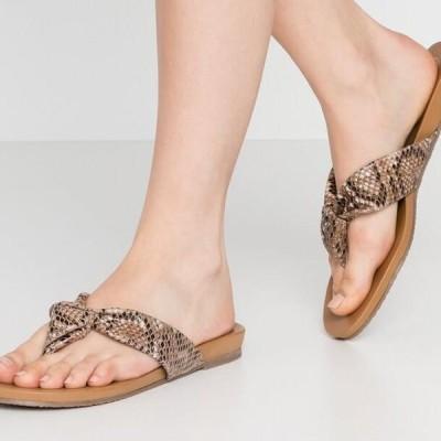 デューンロンドン レディース サンダル LYRIKAL - T-bar sandals - natural