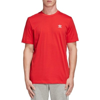 アディダス Tシャツ トップス メンズ adidas Originals Men's Trefoil Essentials T-Shirt LushRed
