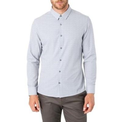 セブンダイヤモンド メンズ シャツ トップス Morning After Slim Fit Print Button-Up Shirt WHITE