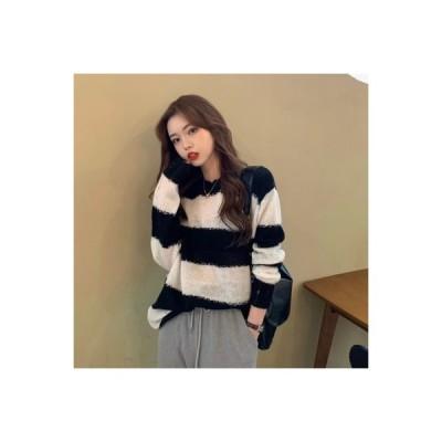 【送料無料】オーバーサイズ 風 カラーマッチング セーターの女性 秋と冬 韓国風 ルース 何 | 364331_A63658-2936500
