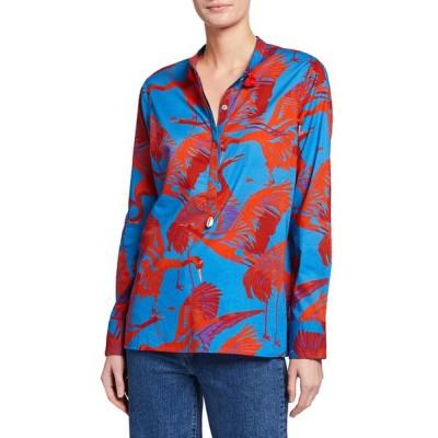 フィギュー レディース シャツ トップス Paolina Short-Sleeve Floral Print Shirt