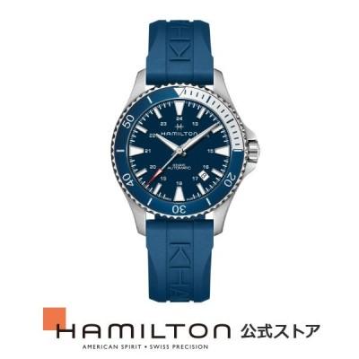 ハミルトン 公式 腕時計 HAMILTON  カーキ ネイビー スキューバ 自動巻き 40.00MM ラバーベルト H82345341 男性 正規品