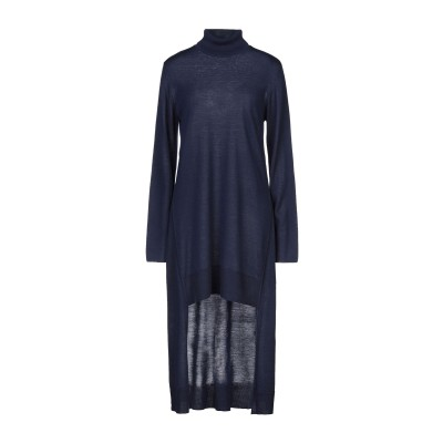 EUROPEAN CULTURE ミニワンピース&ドレス ダークブルー S ウール 50% / アクリル 50% ミニワンピース&ドレス