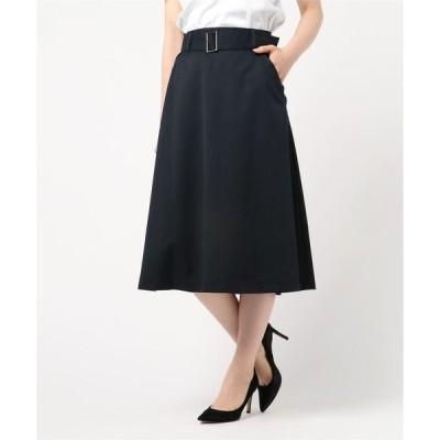 スカート サニーツイルフレアスカート